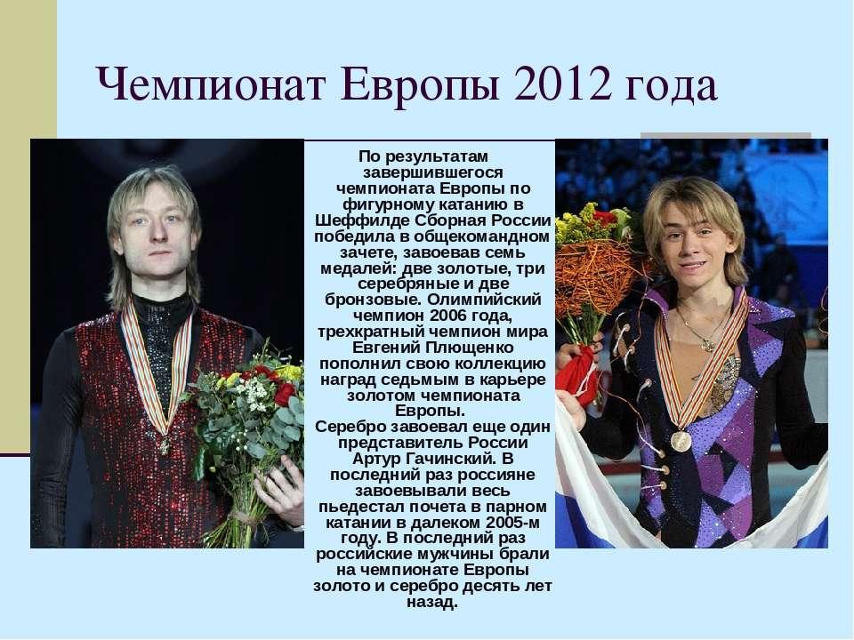 Чемпионат Европы 2012 года По результатам завершившегося чемпионата Европы по...