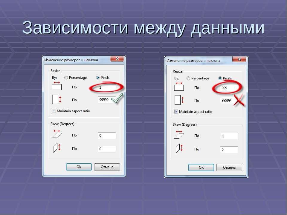 Зависимости между данными