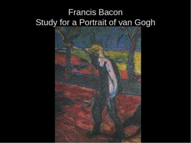 Francis Bacon Study for a Portrait of van Gogh