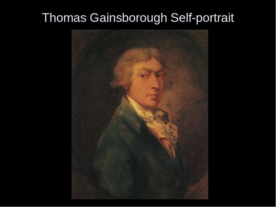 Thomas Gainsborough Self-portrait