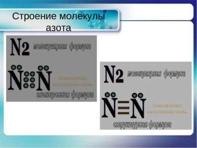 Строение молекулы азота