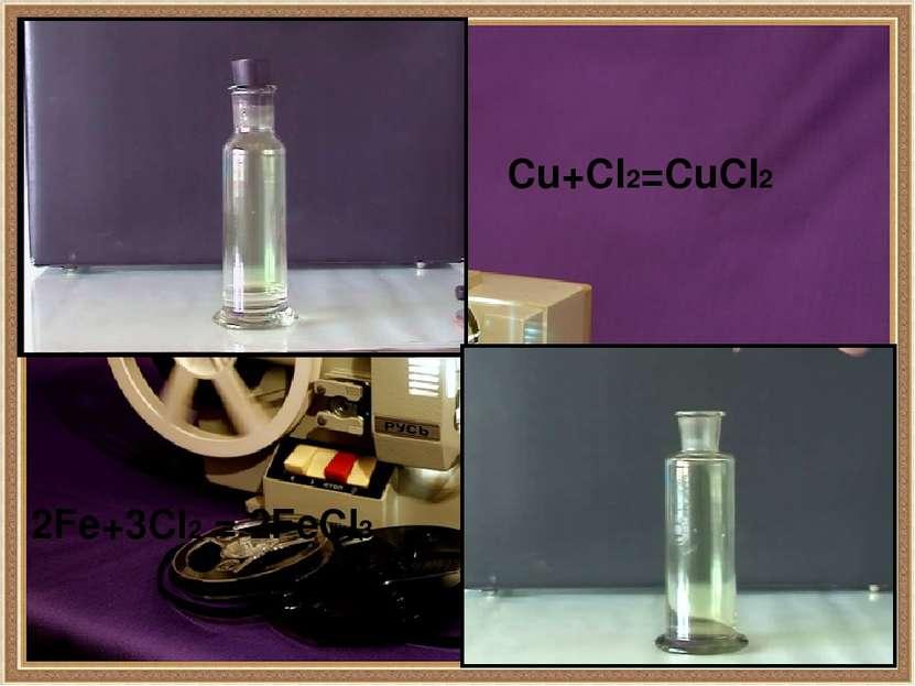 Для обеззараживания воды — «хлорирования». В химическом производстве соляной ...