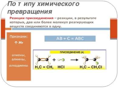 По типу химического превращения