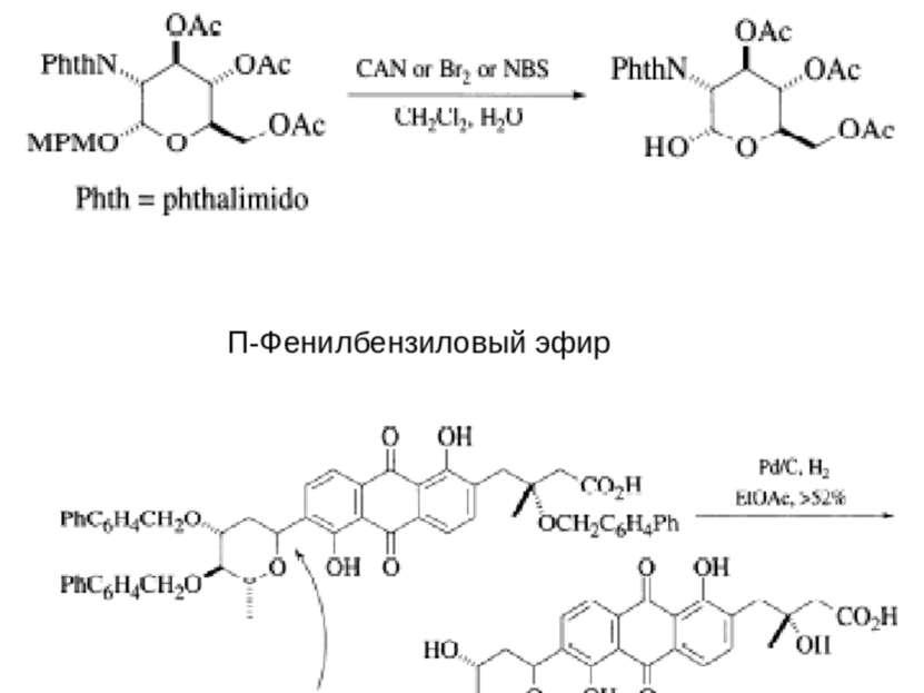 П-Метоксибензиловый эфир – (MPM-OR) П-Фенилбензиловый эфир