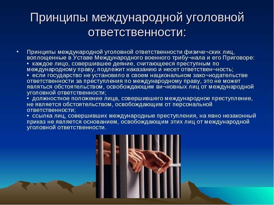 Принципы международной уголовной ответственности: Принципы международной угол...