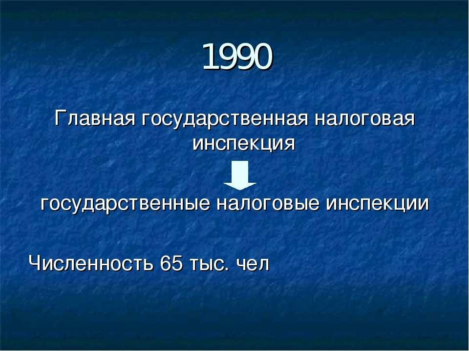 1990 Главная государственная налоговая инспекция государственные налоговые ин...
