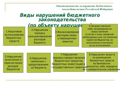 Ответственность за нарушение бюджетного законодательства Российской Федерации...