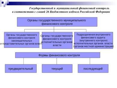 Государственный и муниципальный финансовый контроль в соответствии с главой 2...