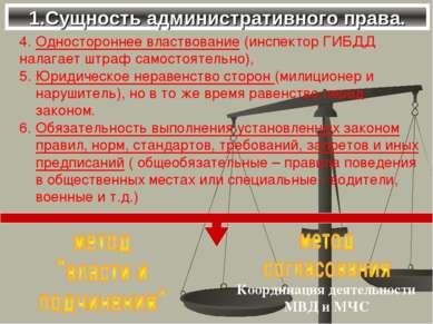 1.Сущность административного права. 4. Одностороннее властвование (инспектор ...