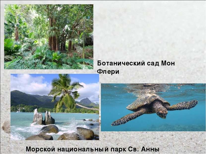 Ботанический сад Мон Флери Морской национальный парк Св. Анны