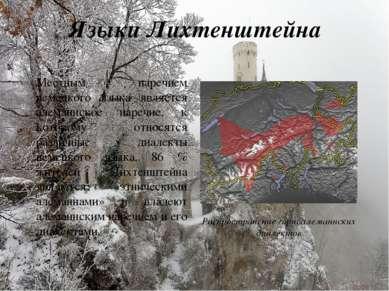 Языки Лихтенштейна Местным наречием немецкого языка является алеманнское наре...