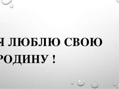 Я ЛЮБЛЮ СВОЮ РОДИНУ !