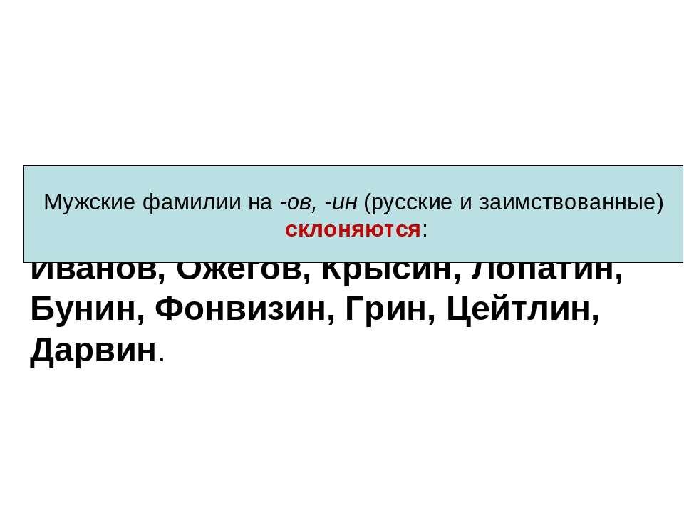 Иванов, Ожегов, Крысин, Лопатин, Бунин, Фонвизин, Грин, Цейтлин, Дарвин. слов...