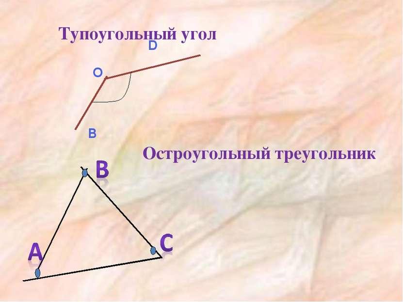 Тупоугольный угол Остроугольный треугольник