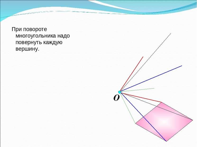 При повороте многоугольника надо повернуть каждую вершину.