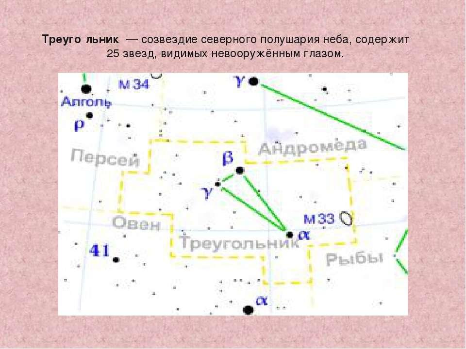 Треуго льник — созвездие северного полушария неба, содержит 25 звезд, видимых...