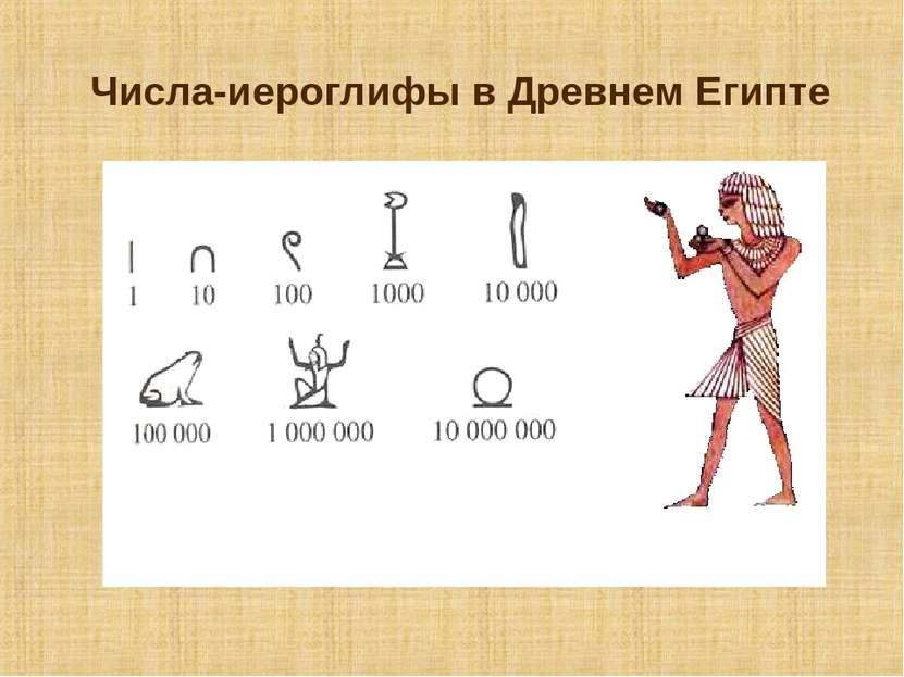 Числа-иероглифы в Древнем Египте