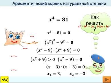 Арифметический корень натуральной степени Как решить? VN