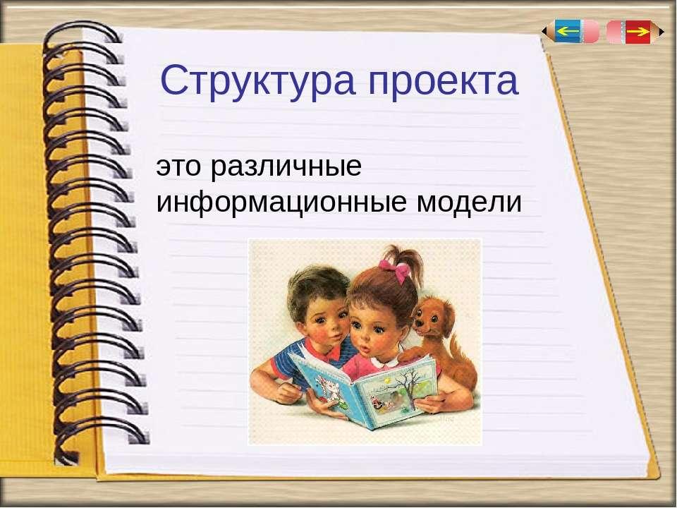 Структура проекта это различные информационные модели