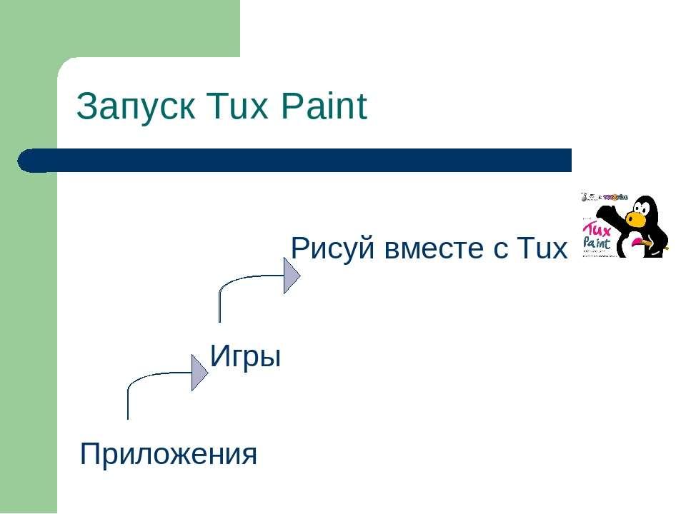 Запуск Tux Paint Приложения Игры Рисуй вместе с Tux