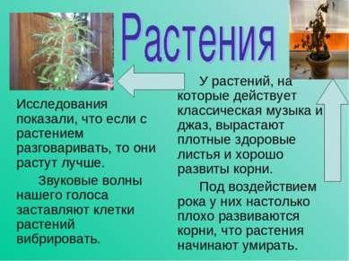 Исследования показали, что если с растением разговаривать, то они растут лучш...