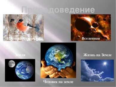Природоведение Изучение природы Вселенная Земля Жизнь на Земле Человек на земле