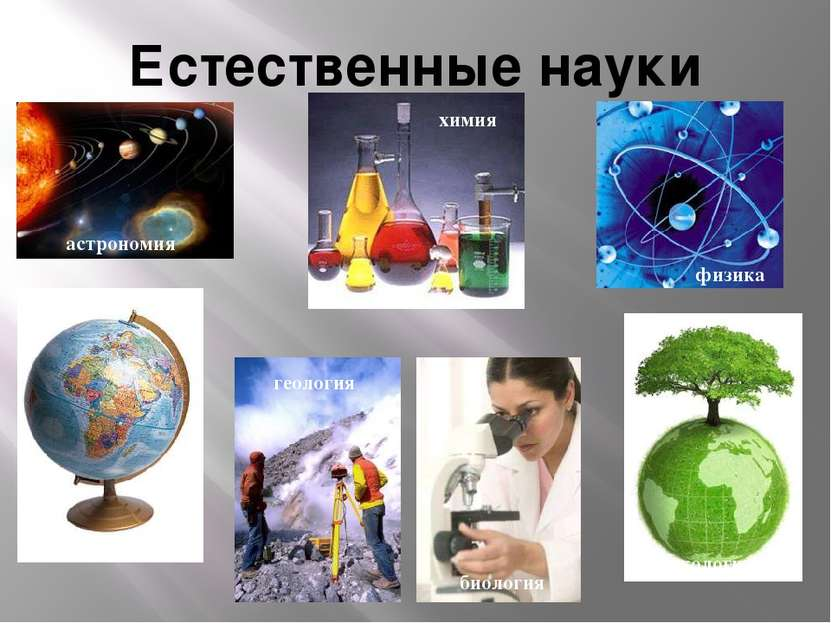 Естественные науки астрономия химия физика география геология биология экология