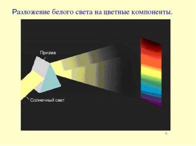Разложение белого света на цветные компоненты. 7]
