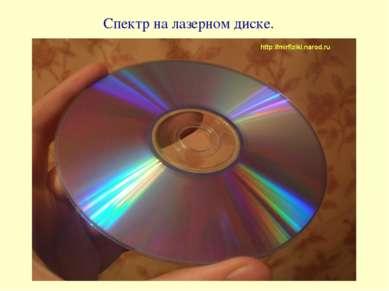 Спектр на лазерном диске.