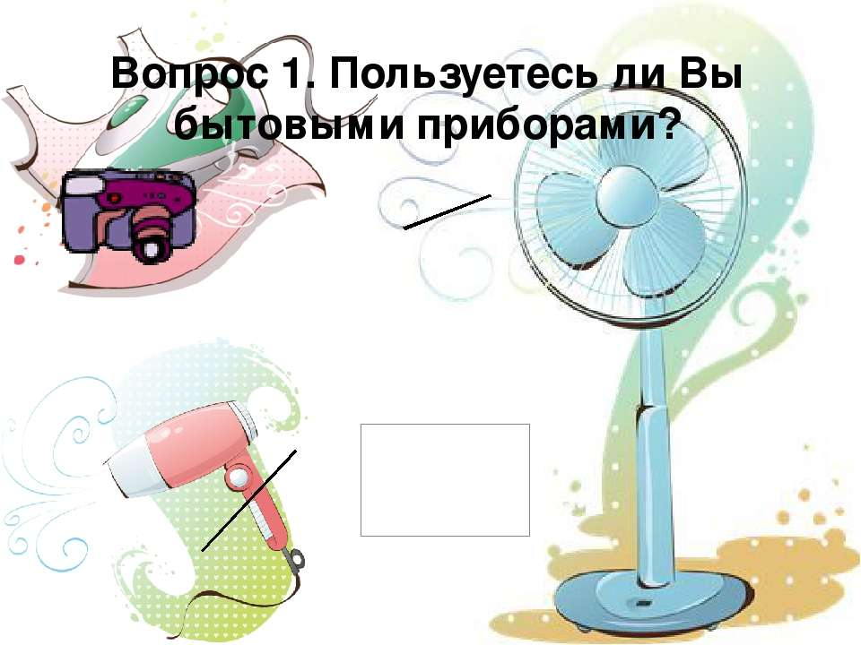 Вопрос 1. Пользуетесь ли Вы бытовыми приборами?