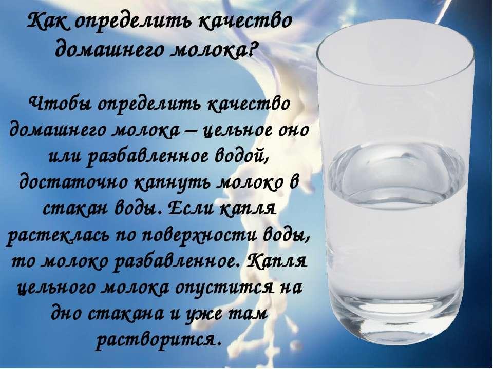 Как определить качество домашнего молока? Чтобы определить качество домашнего...