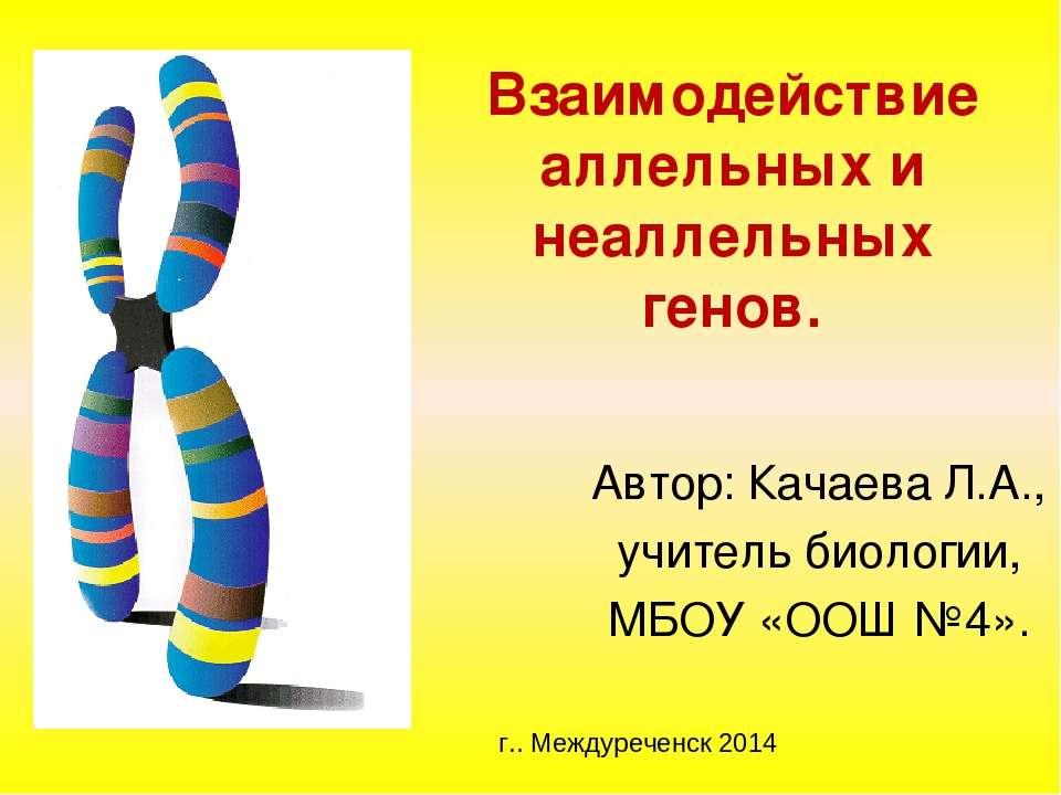 Взаимодействие аллельных и неаллельных генов. Автор: Качаева Л.А., учитель би...