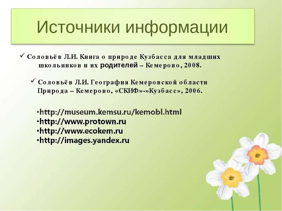 Соловьёв Л.И. Книга о природе Кузбасса для младших школьников и их родителей ...