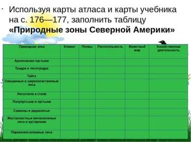Используя карты атласа и карты учебника на с.176—177, заполнить таблицу «П...