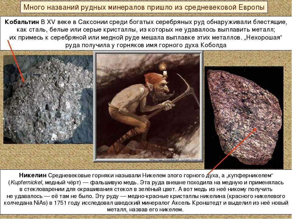 Кобальтин В XV веке вСаксонии среди богатых серебряных руд обнаруживали блес...
