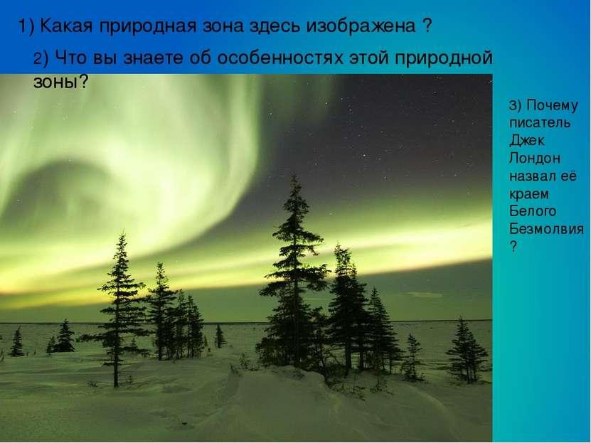 1) Какая природная зона здесь изображена ? 2) Что вы знаете об особенностях э...
