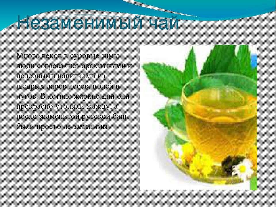 Незаменимый чай Много веков в суровые зимы люди согревались ароматными и целе...
