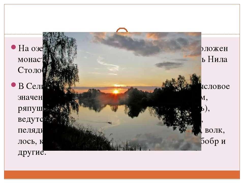 На озере Селигер, на острове Столобный, расположен монастырь Нилова Пустынь, ...