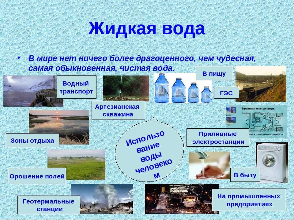 Жидкая вода В мире нет ничего более драгоценного, чем чудесная, самая обыкнов...