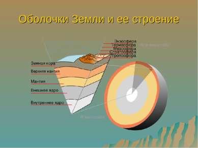 Оболочки Земли и ее строение