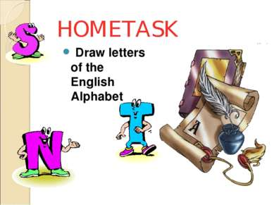 HOMETASK Draw letters of the English Alphabet