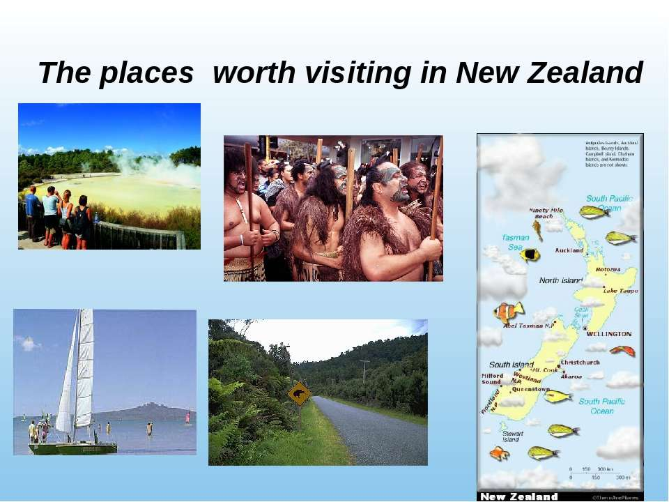 The places worth visiting in New Zealand
