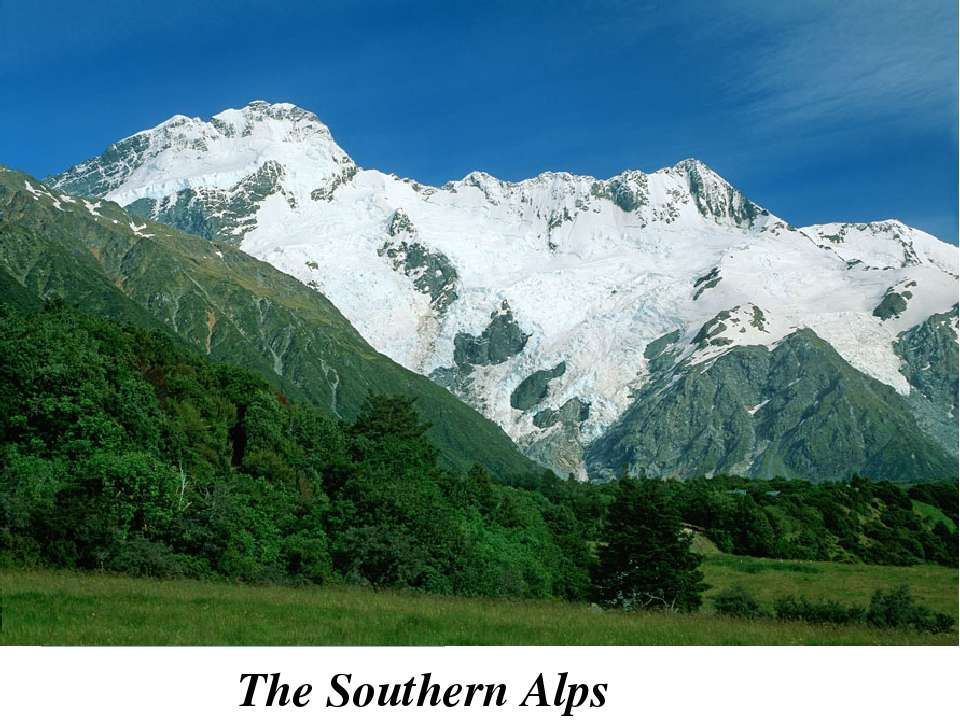 The South Island is the largest land mass of New Zealand, and is divided alon...