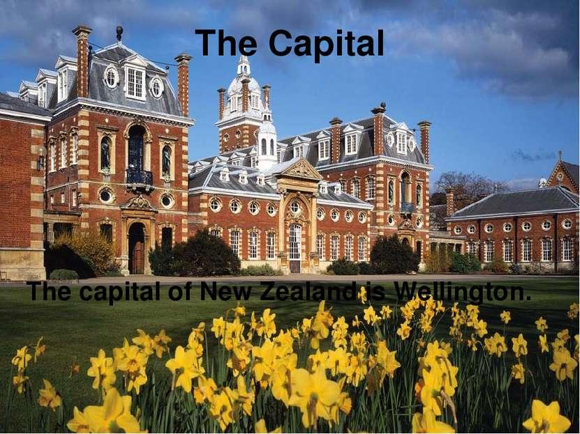 The Capital The capital of New Zealand is Wellington.