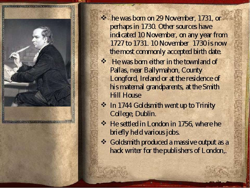 he was born on 29 November, 1731, or perhaps in 1730. Other sources have ind...