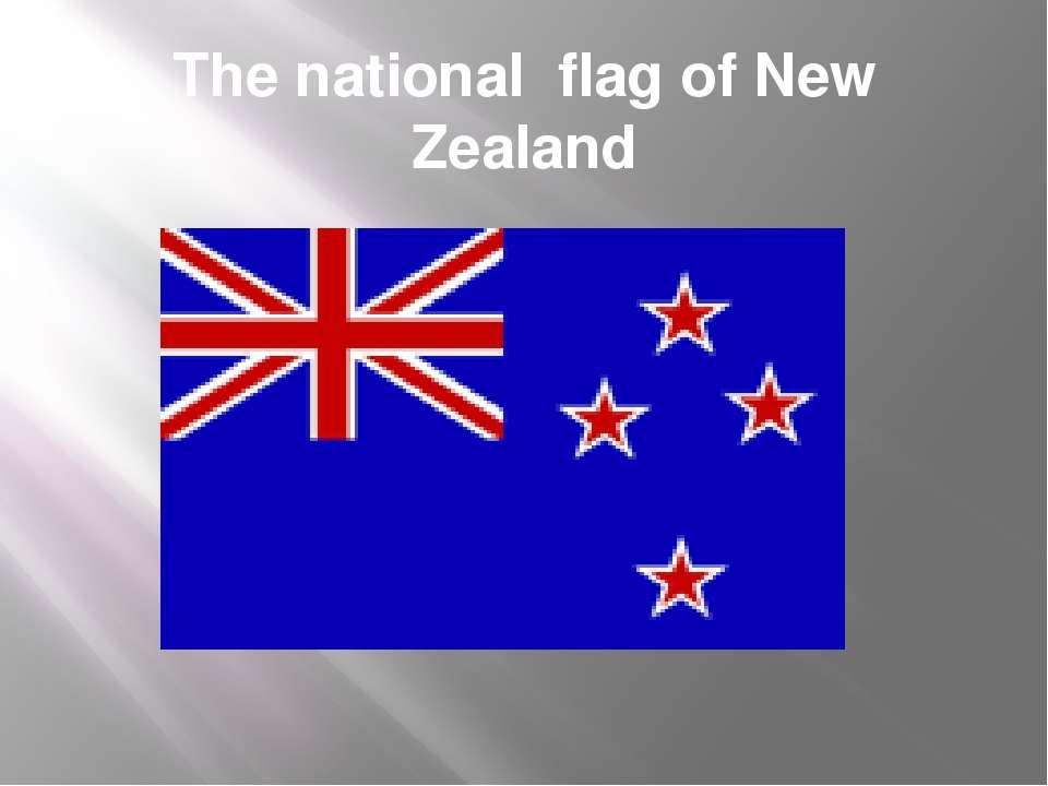 The national flag of New Zealand