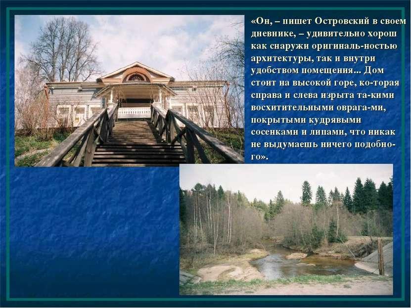 «Он, – пишет Островский в своем дневнике, – удивительно хорош как снаружи ори...