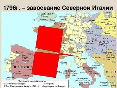 1796г. – завоевание Северной Италии