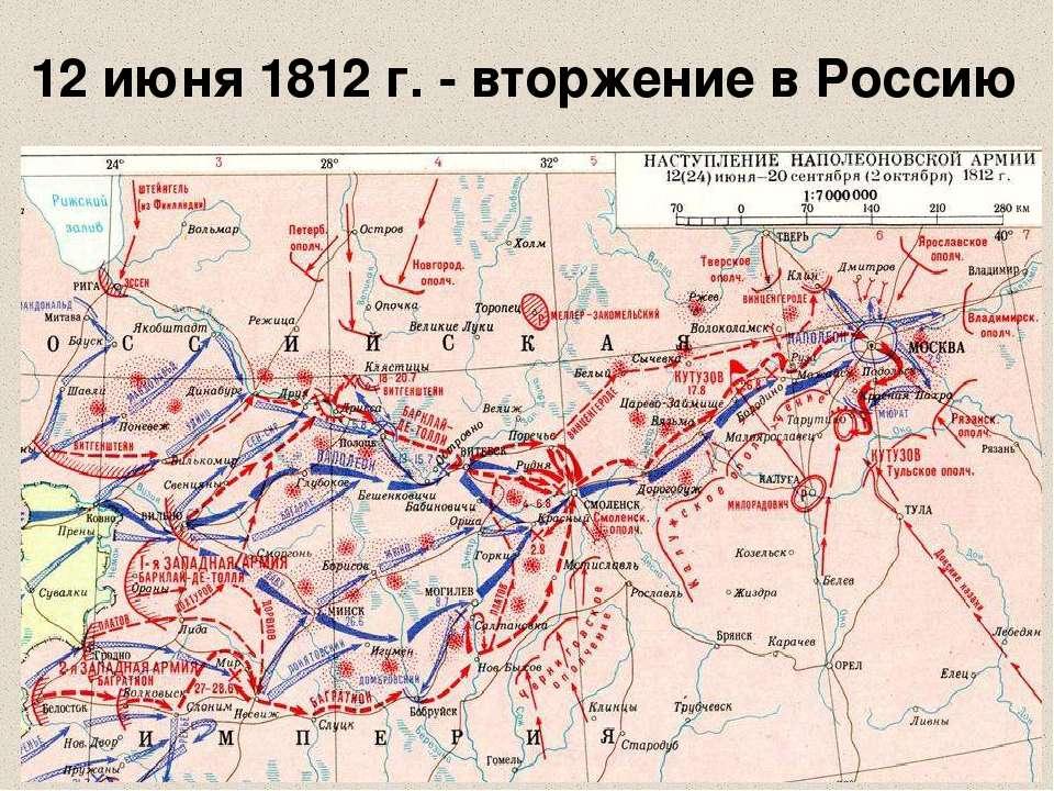12 июня 1812 г. - вторжение в Россию