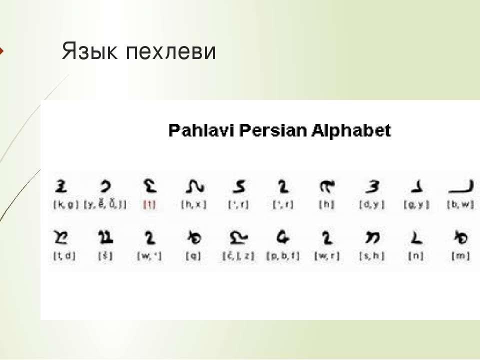 Язык пехлеви